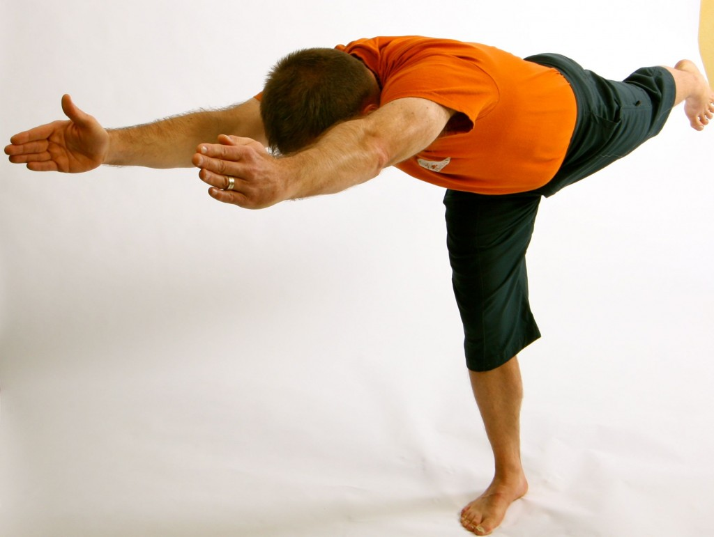 Mike Kohm PT in Virabhadrasana 3